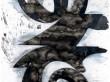 "SWIMMER CLOUD | 2010 | Ink & Acrylic on Tyvek | 74""x36"""